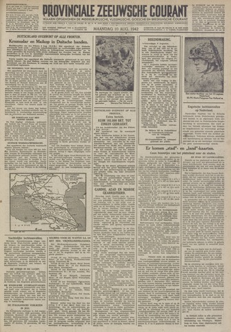 Provinciale Zeeuwse Courant 1942-08-10