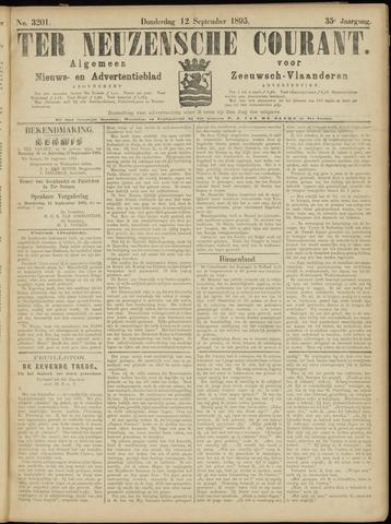 Ter Neuzensche Courant. Algemeen Nieuws- en Advertentieblad voor Zeeuwsch-Vlaanderen / Neuzensche Courant ... (idem) / (Algemeen) nieuws en advertentieblad voor Zeeuwsch-Vlaanderen 1895-09-12