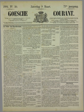 Goessche Courant 1884-03-08