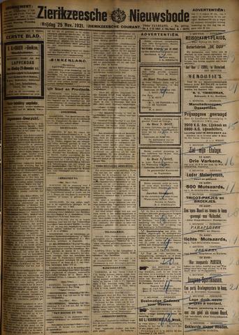 Zierikzeesche Nieuwsbode 1921-11-25