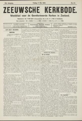 Zeeuwsche kerkbode, weekblad gewijd aan de belangen der gereformeerde kerken/ Zeeuwsch kerkblad 1929-05-17