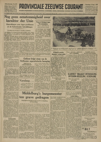 Provinciale Zeeuwse Courant 1949-09-12
