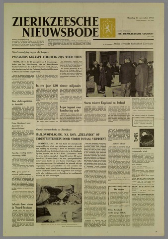 Zierikzeesche Nieuwsbode 1972-11-13