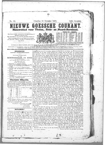 Nieuwe Goessche Courant 1870-11-15