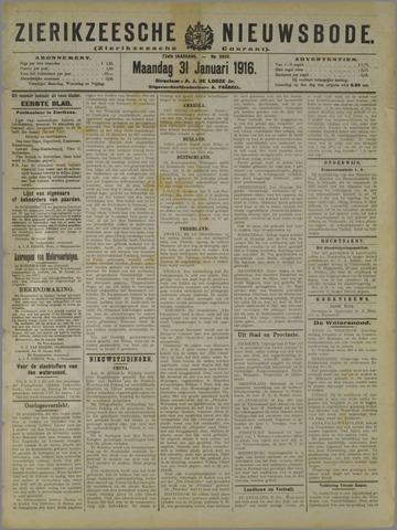 Zierikzeesche Nieuwsbode 1916-01-31