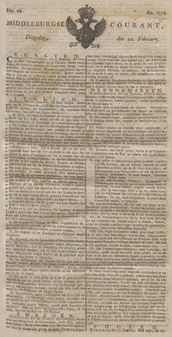 Middelburgsche Courant 1776-02-20