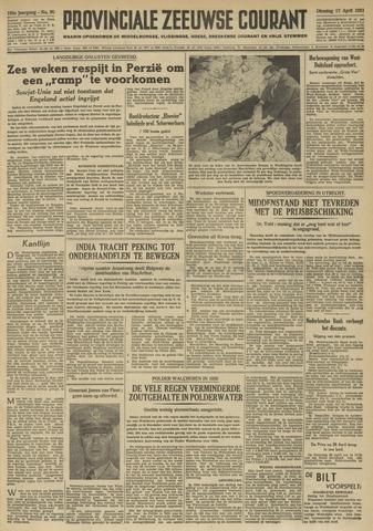 Provinciale Zeeuwse Courant 1951-04-17