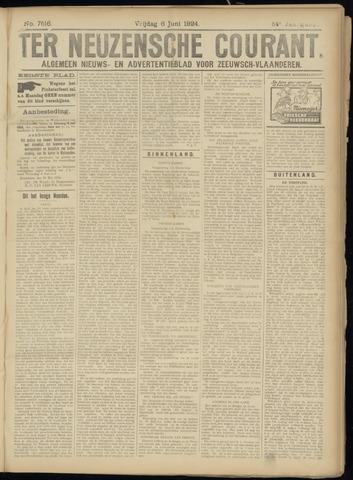 Ter Neuzensche Courant. Algemeen Nieuws- en Advertentieblad voor Zeeuwsch-Vlaanderen / Neuzensche Courant ... (idem) / (Algemeen) nieuws en advertentieblad voor Zeeuwsch-Vlaanderen 1924-06-06