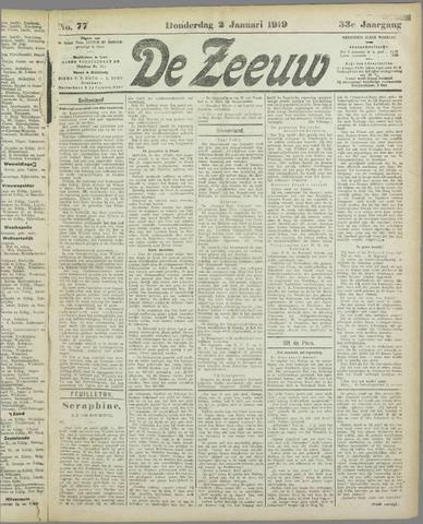De Zeeuw. Christelijk-historisch nieuwsblad voor Zeeland 1919