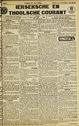 Ierseksche en Thoolsche Courant 1925-07-17