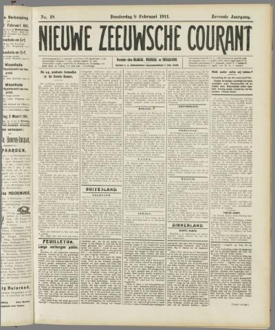 Nieuwe Zeeuwsche Courant 1911-02-09