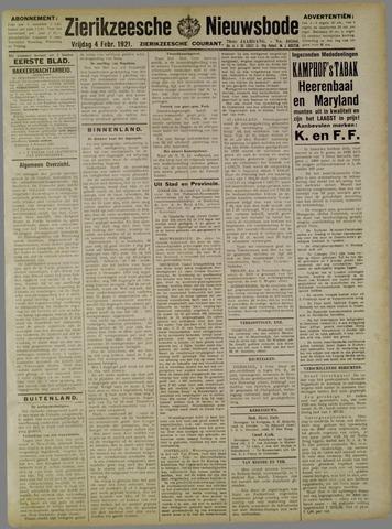 Zierikzeesche Nieuwsbode 1921-02-04