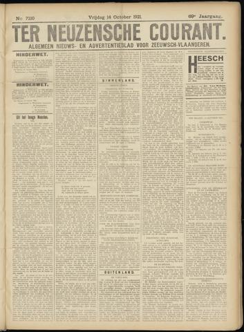 Ter Neuzensche Courant. Algemeen Nieuws- en Advertentieblad voor Zeeuwsch-Vlaanderen / Neuzensche Courant ... (idem) / (Algemeen) nieuws en advertentieblad voor Zeeuwsch-Vlaanderen 1921-10-14
