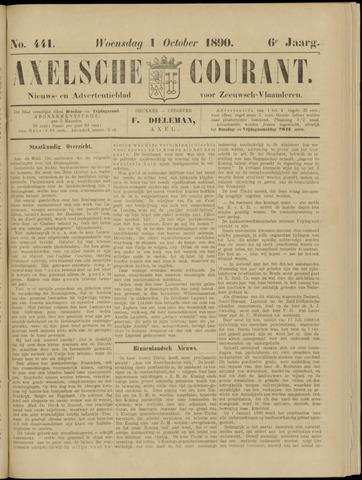 Axelsche Courant 1890-10-01