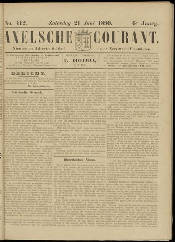 Axelsche Courant 1890-06-21