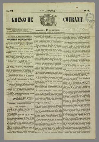 Goessche Courant 1854-09-14
