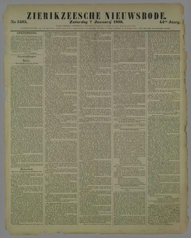 Zierikzeesche Nieuwsbode 1888-01-07