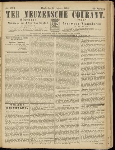 Ter Neuzensche Courant. Algemeen Nieuws- en Advertentieblad voor Zeeuwsch-Vlaanderen / Neuzensche Courant ... (idem) / (Algemeen) nieuws en advertentieblad voor Zeeuwsch-Vlaanderen 1904-10-27