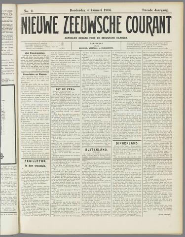 Nieuwe Zeeuwsche Courant 1906-01-04