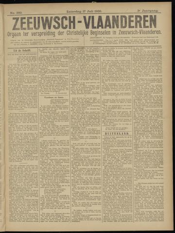 Luctor et Emergo. Antirevolutionair nieuws- en advertentieblad voor Zeeland / Zeeuwsch-Vlaanderen. Orgaan ter verspreiding van de christelijke beginselen in Zeeuwsch-Vlaanderen 1920-07-17