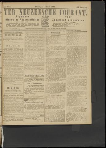 Ter Neuzensche Courant. Algemeen Nieuws- en Advertentieblad voor Zeeuwsch-Vlaanderen / Neuzensche Courant ... (idem) / (Algemeen) nieuws en advertentieblad voor Zeeuwsch-Vlaanderen 1914-03-17