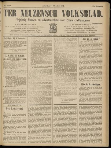 Ter Neuzensch Volksblad. Vrijzinnig nieuws- en advertentieblad voor Zeeuwsch- Vlaanderen / Zeeuwsch Nieuwsblad. Nieuws- en advertentieblad voor Zeeland 1911-10-14