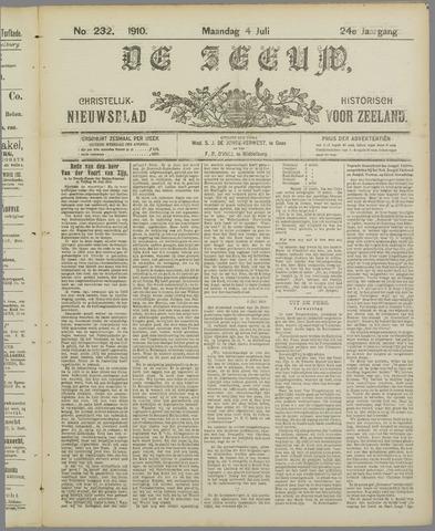 De Zeeuw. Christelijk-historisch nieuwsblad voor Zeeland 1910-07-04
