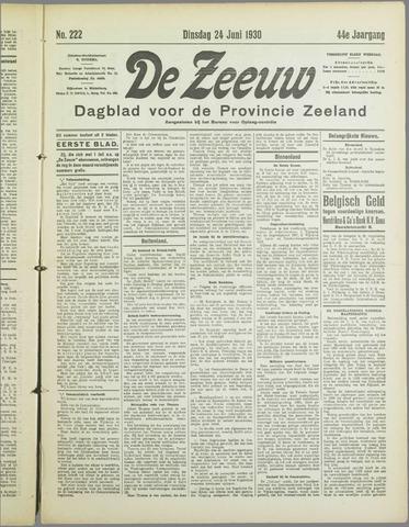 De Zeeuw. Christelijk-historisch nieuwsblad voor Zeeland 1930-06-24