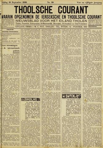 Ierseksche en Thoolsche Courant 1936-09-18