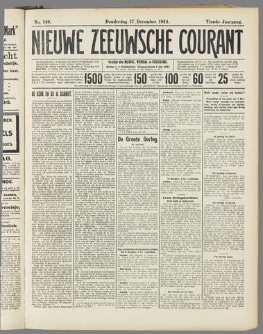 Nieuwe Zeeuwsche Courant 1914-12-17