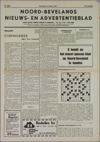 Noord-Bevelands Nieuws- en advertentieblad 1981-02-19