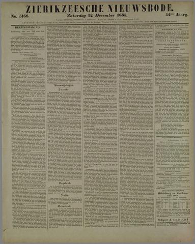 Zierikzeesche Nieuwsbode 1885-12-12