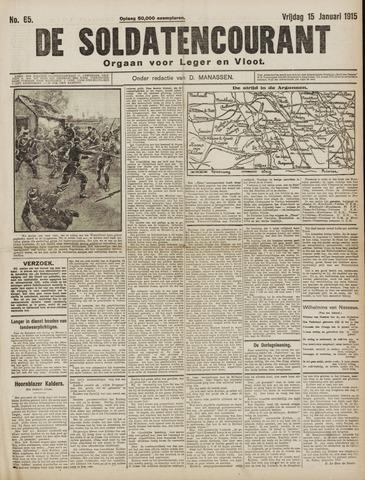 De Soldatencourant. Orgaan voor Leger en Vloot 1915-01-15
