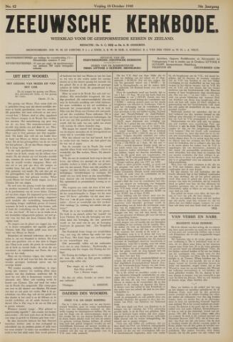 Zeeuwsche kerkbode, weekblad gewijd aan de belangen der gereformeerde kerken/ Zeeuwsch kerkblad 1940-10-18