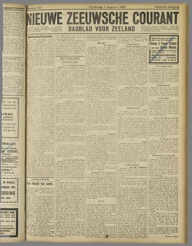 Nieuwe Zeeuwsche Courant 1920-08-05