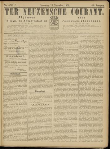 Ter Neuzensche Courant. Algemeen Nieuws- en Advertentieblad voor Zeeuwsch-Vlaanderen / Neuzensche Courant ... (idem) / (Algemeen) nieuws en advertentieblad voor Zeeuwsch-Vlaanderen 1908-11-26