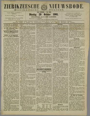 Zierikzeesche Nieuwsbode 1901-10-29