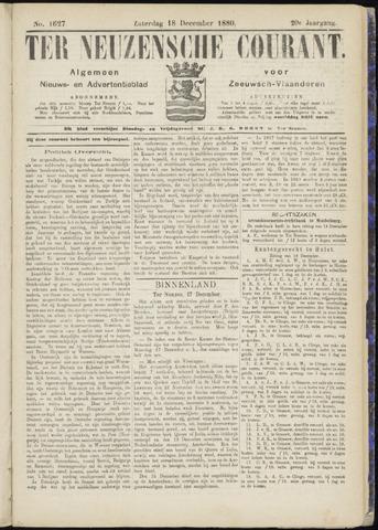 Ter Neuzensche Courant. Algemeen Nieuws- en Advertentieblad voor Zeeuwsch-Vlaanderen / Neuzensche Courant ... (idem) / (Algemeen) nieuws en advertentieblad voor Zeeuwsch-Vlaanderen 1880-12-18
