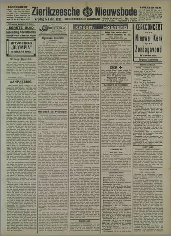Zierikzeesche Nieuwsbode 1932-02-05