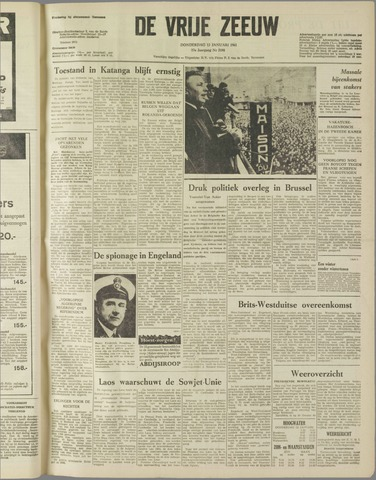 de Vrije Zeeuw 1961-01-12