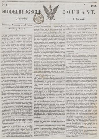 Middelburgsche Courant 1868
