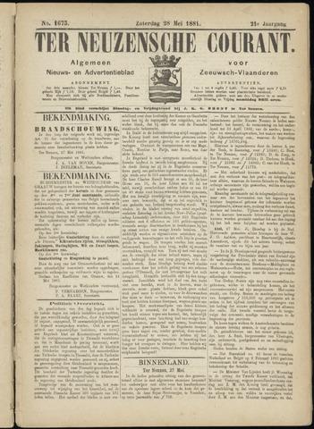 Ter Neuzensche Courant. Algemeen Nieuws- en Advertentieblad voor Zeeuwsch-Vlaanderen / Neuzensche Courant ... (idem) / (Algemeen) nieuws en advertentieblad voor Zeeuwsch-Vlaanderen 1881-05-28