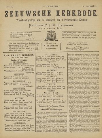 Zeeuwsche kerkbode, weekblad gewijd aan de belangen der gereformeerde kerken/ Zeeuwsch kerkblad 1889-10-26