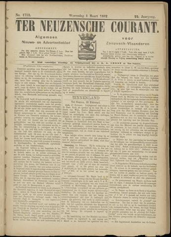 Ter Neuzensche Courant. Algemeen Nieuws- en Advertentieblad voor Zeeuwsch-Vlaanderen / Neuzensche Courant ... (idem) / (Algemeen) nieuws en advertentieblad voor Zeeuwsch-Vlaanderen 1882-03-01