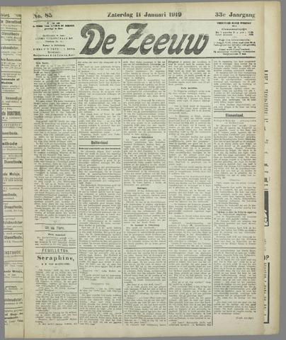 De Zeeuw. Christelijk-historisch nieuwsblad voor Zeeland 1919-01-11