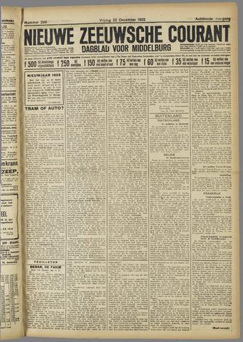 Nieuwe Zeeuwsche Courant 1922-12-22