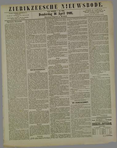 Zierikzeesche Nieuwsbode 1891-04-16