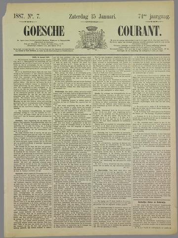 Goessche Courant 1887-01-15