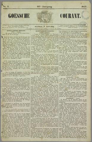 Goessche Courant 1857-01-05
