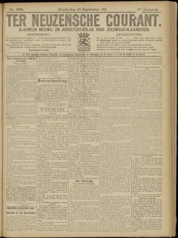 Ter Neuzensche Courant. Algemeen Nieuws- en Advertentieblad voor Zeeuwsch-Vlaanderen / Neuzensche Courant ... (idem) / (Algemeen) nieuws en advertentieblad voor Zeeuwsch-Vlaanderen 1917-09-20